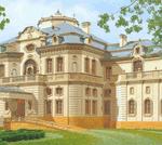 Интерпретация интерьера современного дома  в традициях русской усадьбы